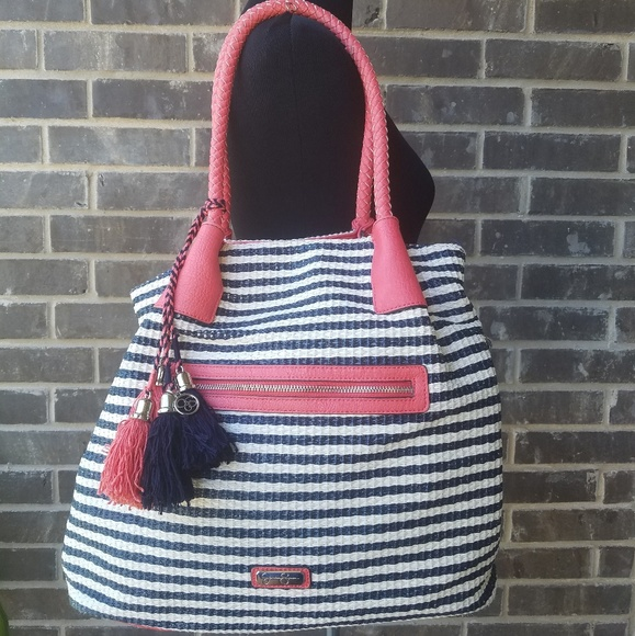 Jessica Simpson Handbags - Jessica Simpson Striped Large Hobo Bag